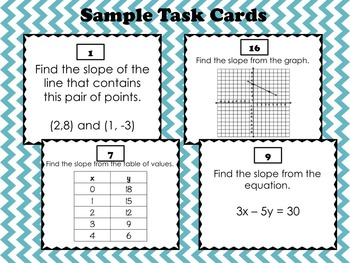 Finding Slope (task cards or stations)