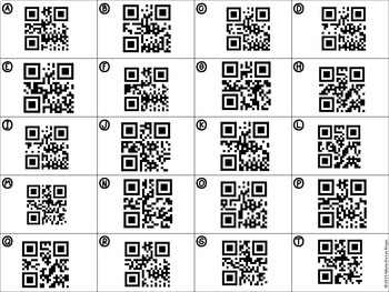 Finding Slope with Tables, Graphs and Ordered Pairs QR Codes