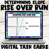 Finding Slope using Rise over Run Digital Task Cards