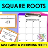 Finding Square Roots Task Cards