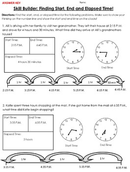 Finding Start, End and Elapsed Time