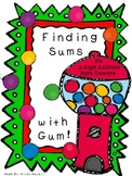 Go Math-Finding Sums with Gum- Six 2 Digit Addition Math Centers