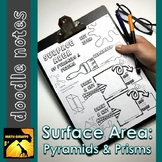 Finding Surface Area Doodle Notes