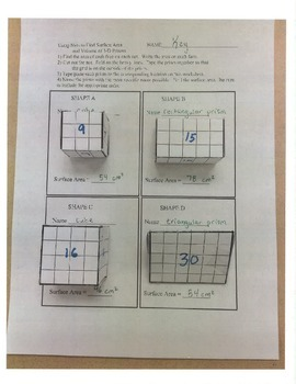 finding surface area using nets by middle school mathematics ken dunlap. Black Bedroom Furniture Sets. Home Design Ideas