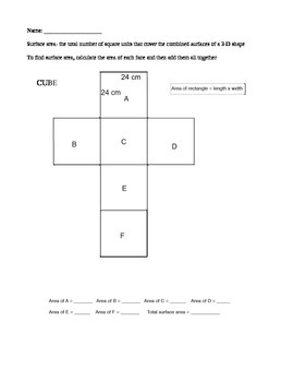 Finding Surface Area from Nets