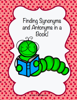 Finding Synonyms and Antonyms in a book!