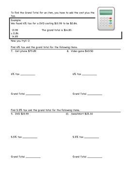 Finding Tax Worksheet