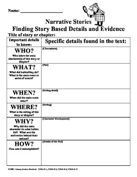 Finding Text Based Evidence Graphic Organizer Duo
