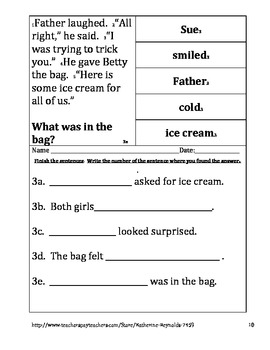 Text Evidence--Comprehension-