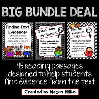Finding Text Evidence Big Bundle Deal
