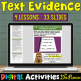Finding Text Evidence: Four Digital Lessons Compatible wit
