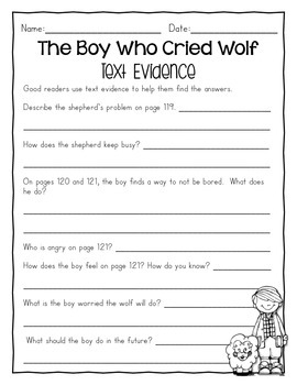 Finding Text Evidence - Reading Wonders Grade 2, Unit 2 Freebie