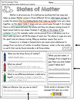 Finding Text Evidence - SCIENCE