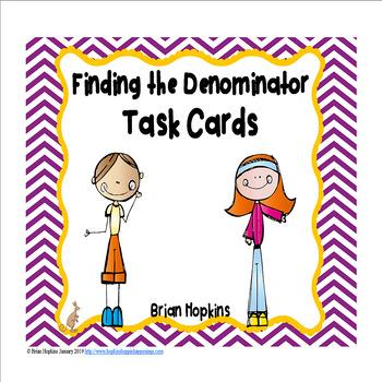 Finding The Denominator Task Cards FREEBIE