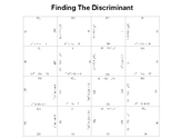 Finding The Discriminant Fun Square Puzzle Activity