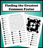 Finding The Greatest Common Factor Color Worksheet