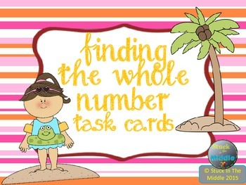 Finding The Whole Number Percentage Task Cards
