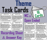 Identifying Theme Task Cards 4th 5th 6th Grade Reading Comprehension Passages