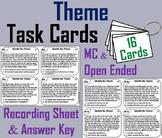Identifying Theme Task Cards Activity