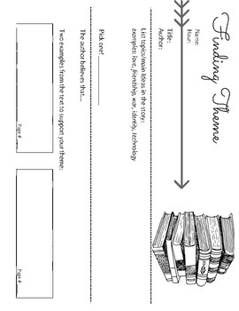 Finding Theme Worksheet