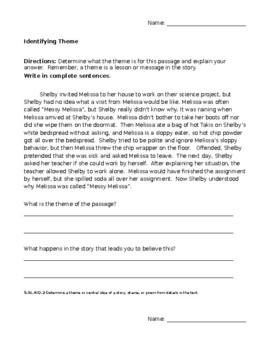 Finding Theme Worksheet Pack