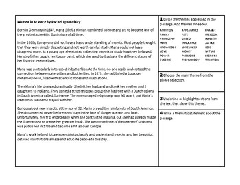 Finding Theme and Thematic Statements Activity