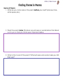 Finding Theme in Poems Graphic Organizer