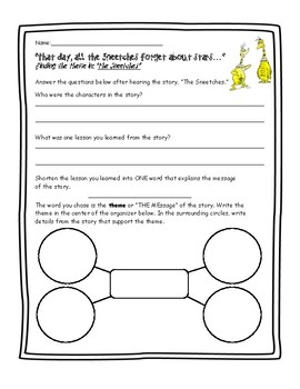 Finding theme worksheets teaching resources teachers pay teachers finding theme in the sneetches ibookread Download