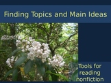 Finding Topics and Main Ideas PowerPoint