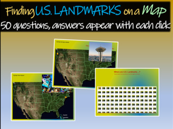 Finding U S Landmarks On A Map 50 Questions With Answers