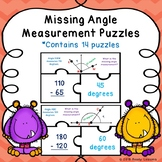 4th Grade Math Finding Unknown Missing Angle Measurements Game Activity 4.MD.7