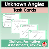 Finding Unknown Angles Geometry Task Cards Parallel Lines