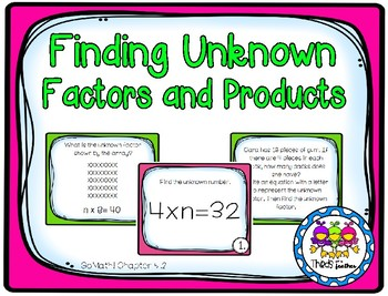Finding Unknown Factors (Grade 3 GoMath! 5.2)