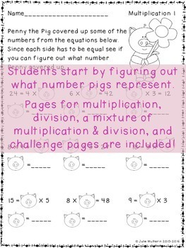 Finding Unknown Numbers {Multiplication and Division}