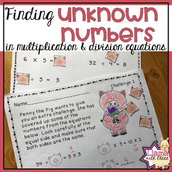 Finding Unknown Numbers in Multiplication and Division Equations