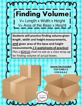 Finding Volume