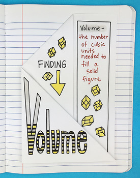Math Doodle - Finding Volume Foldable by Math Doodles