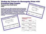 Finding Volume Fractional Edges Common Core 6.G.2 Task Cards