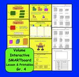 Finding Volume: Interactive SMARTboard Lesson & Printables Gr. 4