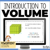 Introduction to Volume of Rectangular Prisms - Teaching PowerPoint