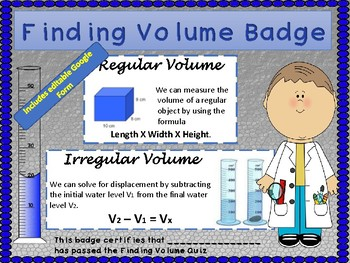 Finding Volume + Process Skills + Badge
