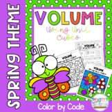 Finding Volume Using Unit Cubes Color by Number-Spring Theme