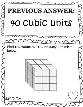 Finding Volume With Unit Cubes - Scavenger Hunt (5.MD.C.4)