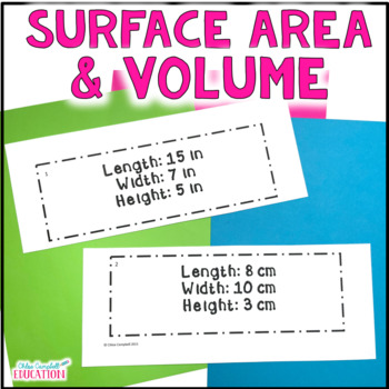 Finding Volume and Surface Area of Rectangular Prisms - Differentiated Activity
