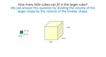Finding Volume of Prisms (fractional edges) by Packing with Unit Cubes