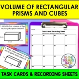 Finding Volume of Rectangular Prisms and Cubes Task Cards