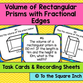 Finding Volume of Rectangular Prisms with Fractional Edges