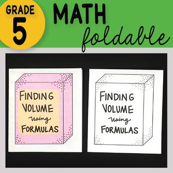 Math Doodle - Finding Volume using Formulas - Math INB Foldable Notes