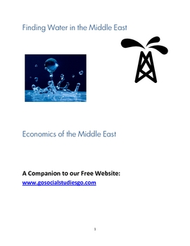 Finding Water In the Middle East Critical Thinking Lab