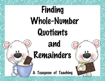 #sbdollardeals Finding Whole-Number Quotients and Remainders